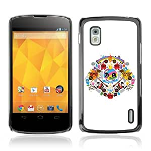 Amazon.com: YOYOSHOP [Cool Colorful Tatto Signs] LG Google Nexus 4