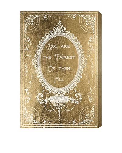 Oliver Gal The Fairest Gold Canvas Art