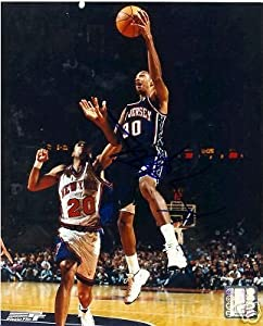 Kerry Kittles New Jersey Nets Signed 8x10 Photo W COA by Hollywood Collectibles