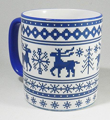 The Christmas Reindeer - knitted design 2 Tone Mug