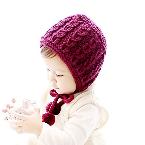 IMLECK Baby Infant Pure Wool Hand-knit Hat