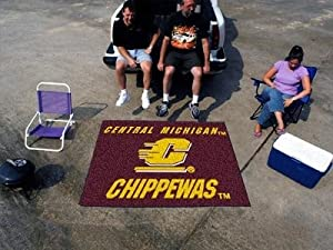 Buy Central Michigan Chippewas Tailgating Mat w School Colors and Soft Carpet by Fanmats