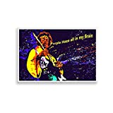 PosterGuy Purple Haze Jimi Hendrix Graphic Illustration Poster