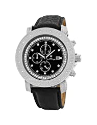 "JBW-Just Bling Men's JB-6114L-A ""Melbourne"" Chronograph Black Dial Diamond Watch"