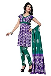 PADMiNi Ethnicwear Women's Dress Material Purple Free Size