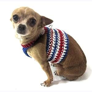 Amazon.com : Myknitt Handmade Knit Pet Harnesses July 4th