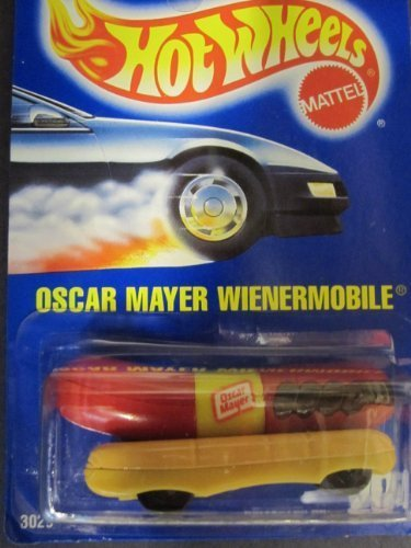wienermobile-oscar-mayer-1991-solid-blue-card-by-hotwheels-204-by-mattel