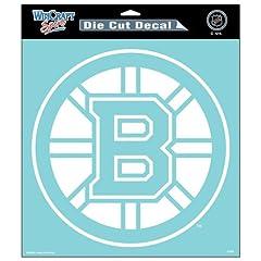 Buy Die Cut Decal 8x8 Boston Bruins 8x8 Die Cut Decal White National Hockey League Hokey... by fannsporan