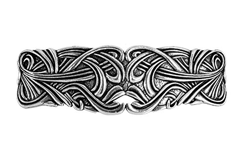 Art Nouveau Swirl Hair Clip | Hand Crafted Metal Barrette Made in the USA with imported French Clips By Oberon Design