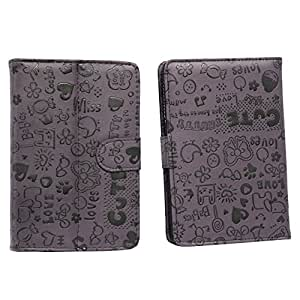Jo Jo Big Teddy Flip Flap Case Cover Pouch Carry For Blu Touch Book 7.0 Purple