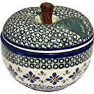 Polish Pottery Apple Baker 1425-DU60