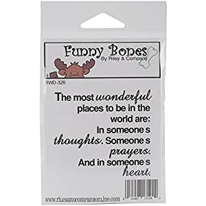 Buy Riley Company Funny Bones Cling Mounted Stamp Most Wonderful Places To Be
