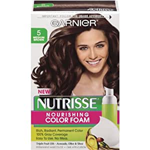 Nutrisse Permanent Haircolor, Medium Brown 5, 1 ct (Pack of 3): Amazon
