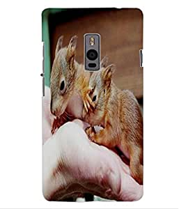 ColourCraft Cute Rats Design Back Case Cover for OnePlus Two