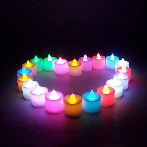 1Pcs LED-Licht Kerze flammenlose bunte Tee-Kerze-Lampe elektronisches Kerze Partei Hochzeitsdeko