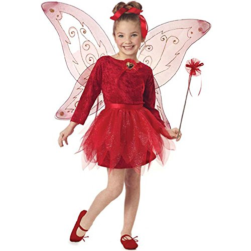 Child's Red Fairy Princess Costume Costume (Size: Small 6-8)