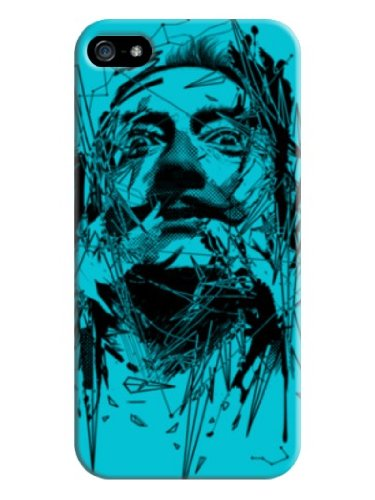 Youai Man Head Hard Back Shell Case / Cover For Iphone 5 And 5S - Bright Turquoise