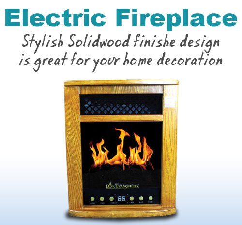 New 2-In-1 Lcd Electric Fireplace Portable Quartz Infrared Space Heater 1500W