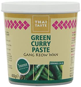 Thai Taste Green Curry Paste in Tub 400 g (Pack of 3): Amazon.co.uk ...