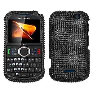 MyBat Diamante 2.0 Protector Cover for Motorola i475 (Clutch+) - Retail Packaging - Black