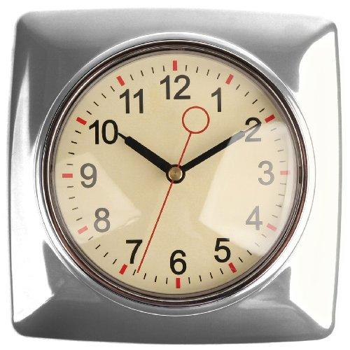 Kitchen Wall Clocks Kikkerland Retro Kitchen Wall Clock Silver