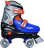 Chicago Boy's Adjustable Quad Skate, Blue/Silver, Medium
