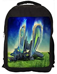 """Snoogg Abstract Machine Radiant Casual Laptop Backpak Fits All 15 - 15.6"""" Inch Laptops"""