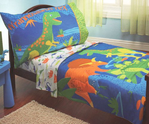 rex dinosaurs 4pc dino toddler bedding set check price