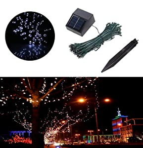 [Promotion] White Solar Powered Garden Tree Lights for Decoration Fairy String Lights 17M 55ft