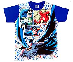 JUSTICE LEAGUE DIGITAL PRINT T SHIRT FOR BOYS