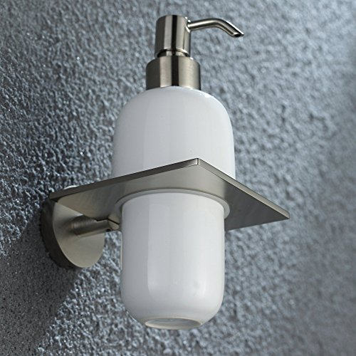 Kraus Kea 12261bn Imperium Bathroom Accessories Wall Mounted Ceramic Lotion Dispenser Brushed