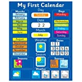 My First Magnetic Calendar - BLUE (also available in PINK). Rigid board 40 x 32cm with hanging loopby Fridgemagic