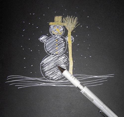 Pentel - Bolígrafos (12 unidades, punta de 1 mm, tinta de gel base de pigmento), color blanco