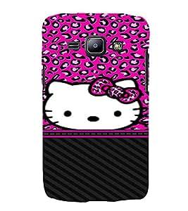 Cuty Cat 3D Hard Polycarbonate Designer Back Case Cover for Samsung Galaxy J1 :: Samsung Galaxy J1 J100F (2015)