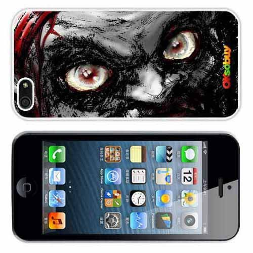 Iphone 5 At&t Sprint Verizon Retail Packing New Releases Rage Zombies Fashion Design Hard Case Cover Skin Protector for (White Pc+pearlescent Aluminum) Fs-067