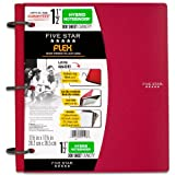 Five Star Flex Hybrid Notebinder, 1-1/2 Inch Binder, Notebook and Binder All-in-One, Red (72399)