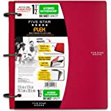 Five Star Flex Hybrid NoteBinder, 1.5-Inch Capacity, 11.5 x 11.25 Inches, Red (72399)