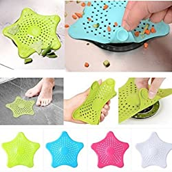Starfish Hair Catcher Bath Sink Strainer Catcher Drain Cover(Multy)