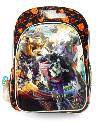 Transformers Backpacks - Black and Red Optimus Prime and Bumble Bee