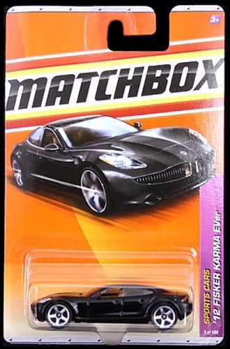 2011 Matchbox '12 Fisker Karma EVer Black #1 of 100 - 1