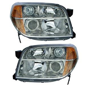 amazoncom   honda pilot headlight headlamp head light lamp pair set left driver