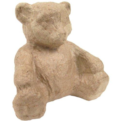 """Paper Mache Figurine 4.5""""-Bear"""