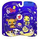 Littlest Pet Shop Hungriest Pet Pairs Honey Bear (#813) And Bumblebee (#814)