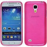Silikon Hülle für Samsung Galaxy S4 Mini - brushed pink - Cover PhoneNatic Schutzhülle Case