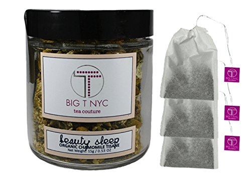 BIG T NYC Beauty Sleep Organic Chamomile Tea Tisane Loose Leaf Herbal Tea (15 Gram Travel Size): BONUS 3 Biodegradable Tea Filters Included (Dragon Ball Energy Drink compare prices)
