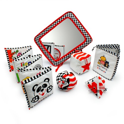 Infant Development Toys Gift Bundle - Black, White & Red. (Development Mobile compare prices)