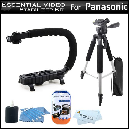 =>>  Essential Video Stabilizer Kit For Panasonic HDC-HS900K HDD Camcorder Includes Hand Grip Camcorder Action Stabilizing Handle + 57 Full Tripod w/Case + LCD Screen Protectors + 3pc Cleaning KIt + MicroFiber Cloth