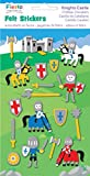 Fiesta Crafts Knight Castle Felt Stickers Pack of 6