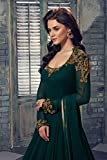 Aryaa Fashion Dark green Handwork Georgette Anarakali Salwar suit(Free Size)