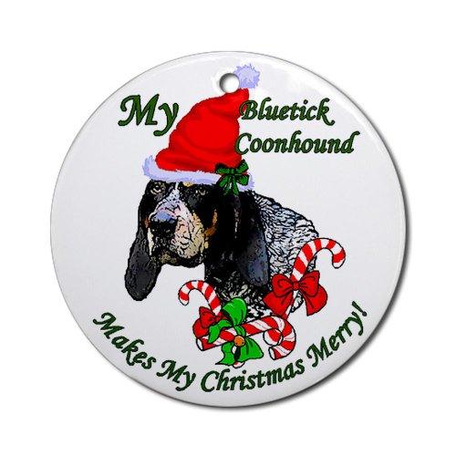 Bluetick Coonhound Christmas Ornament Round Round Ornament
